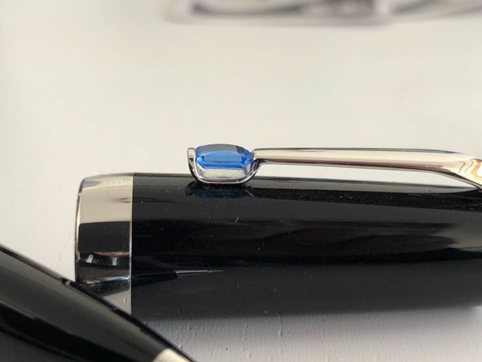 wow how nice MONTBLANC Boheme blue 2 pieces