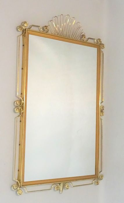 A Gold-Colour Mirror - Marked - 1960s