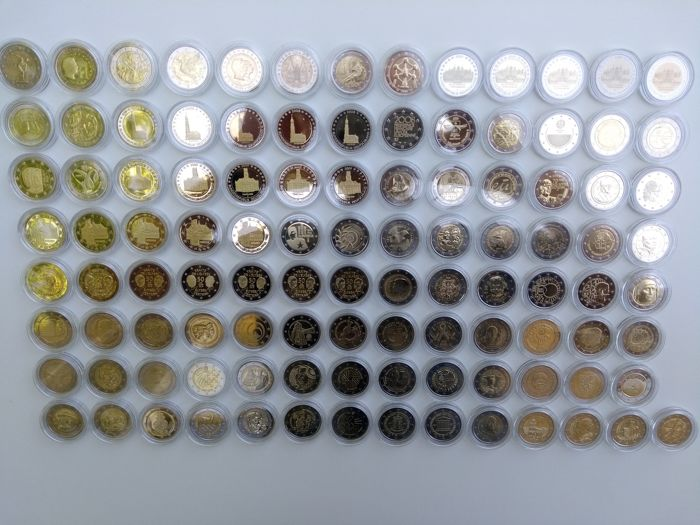 Europe - 105 different commemorative 2 Euro coins - 2004/2017