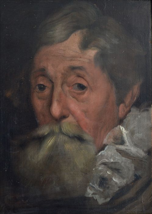 Manner of Anthony Van Dyck. (18th century) - Portrait of a bearded man.