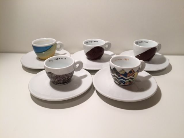 Matteo Thun and other artists for Illy - coffee set of 5 cups limited edition