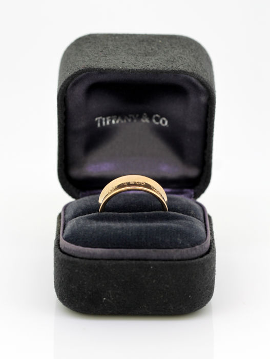 Tiffany & Co - 1837 Collection Rubedo Metal Ring, 2012 - Size UK: O US: 7 1/2 EU: 55 1/4