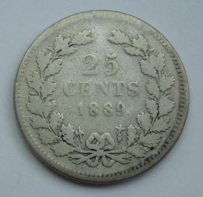 The Netherlands - 25 cents 1889 Willem III - silver