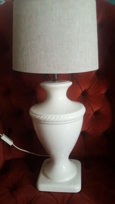 Large French porcelain table lamp-second half 20th century,France