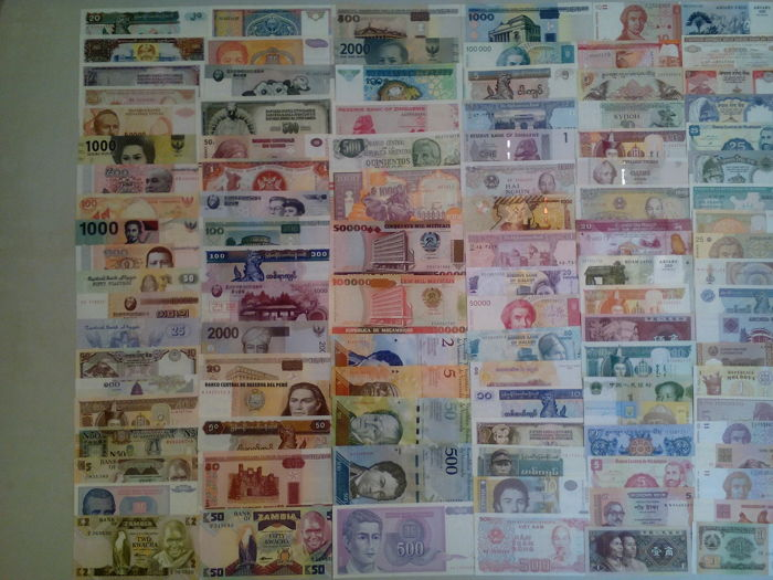 World - 230 world banknotes