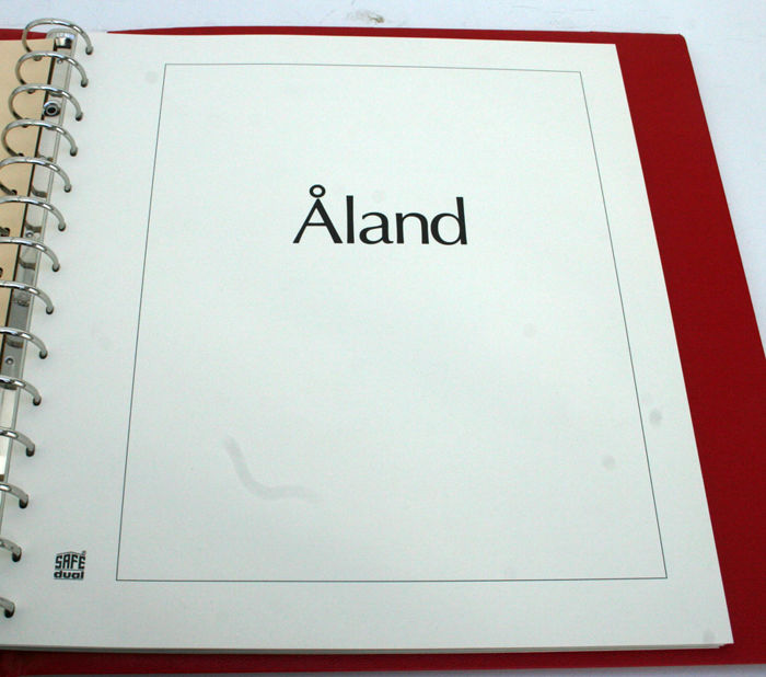 Åland 1984-2000 - Collectie in SAFE album en in stockboek, met postzegelboekjes