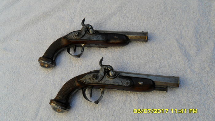 A Pair of Officer's Pistols, circa 1820