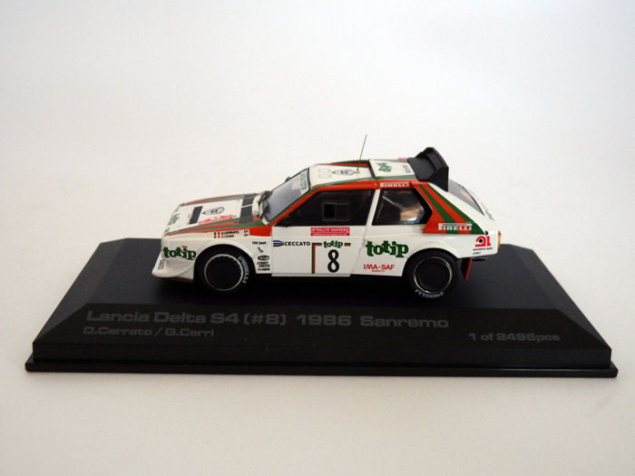 hpi racing - scale 1/43 - lancia delta s4 #8 rally san remo 1986