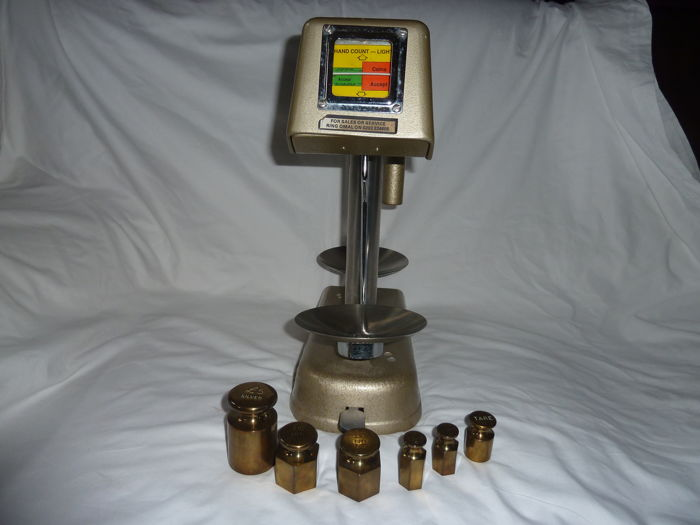 Omal Bank Post Office Coin Weighing / Money checker scales & weights 1980's