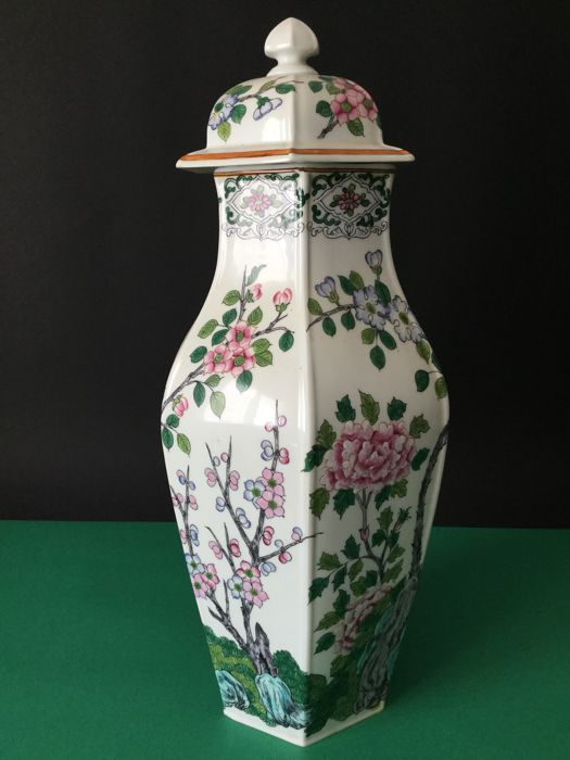 Lepoivre - large ceramic vase with lid - signed