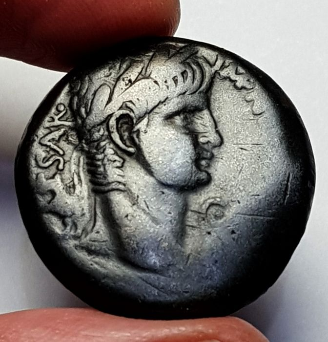 Roman Empire - Provincial, Nero, 54 - 68 AD, Ae As  - Attractice Dark Patina