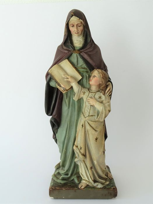 Statue of the holy Anna - Belgium - Ca. 1930 - Marked
