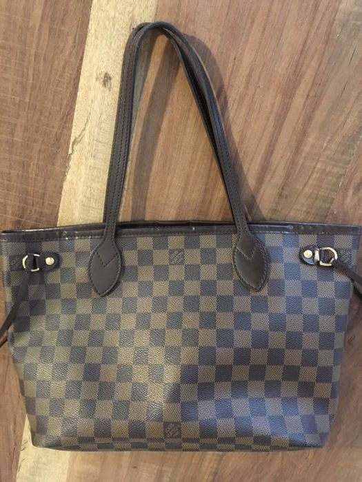 f60f6aadae654 Louis Vuitton - Damier Ebene Canvas Neverfull Shoulder bag - Catawiki