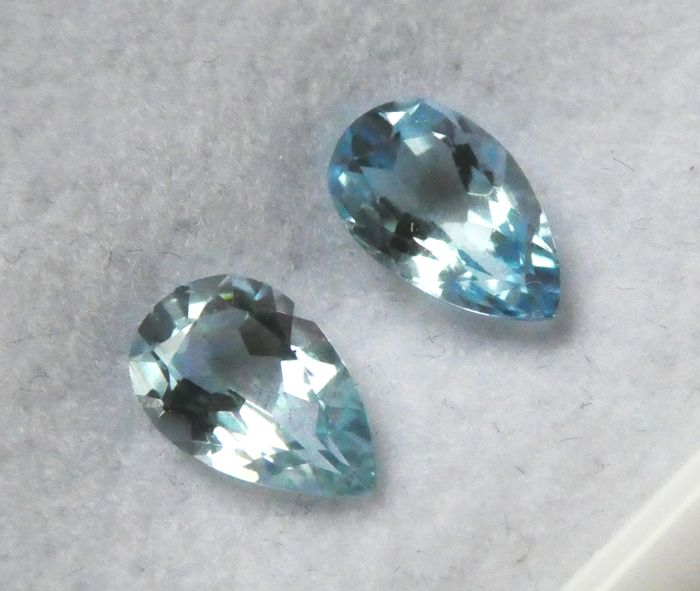 Aquamarine Matching Pair – 1.47 ct Total – No Reserve Price