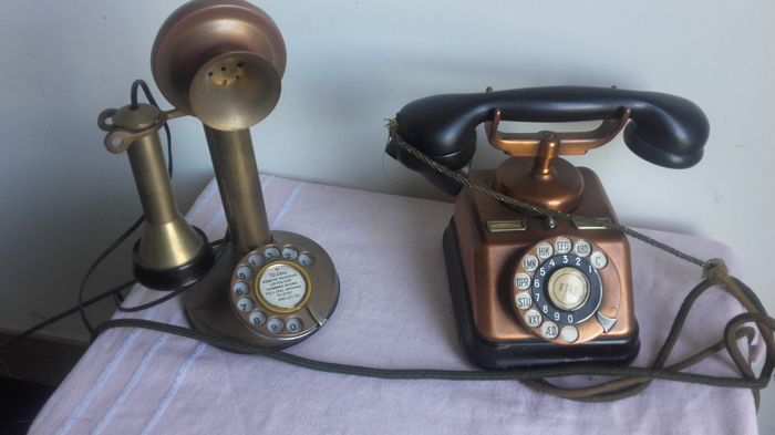 A decorative telephone
