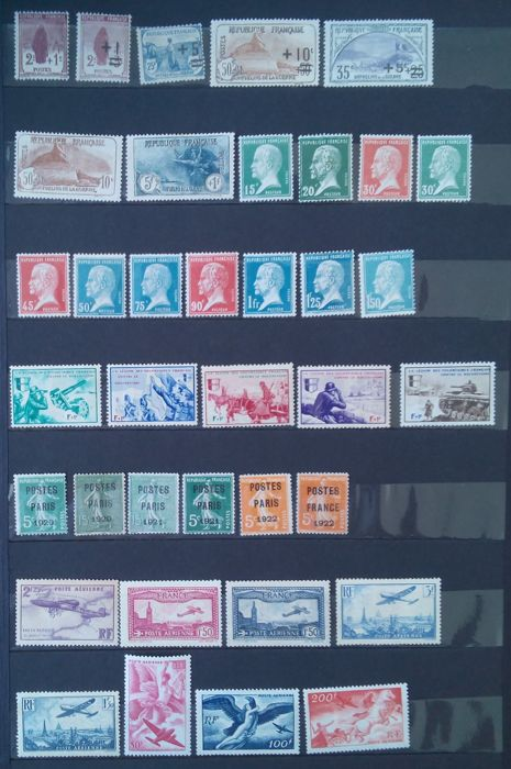 France - Semi-modern period, mini collection: Orphans, Pasteur, Airmail, precancelled and War