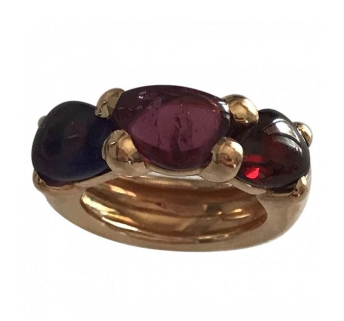 Pomellato - rose gold ring with pink tourmaline