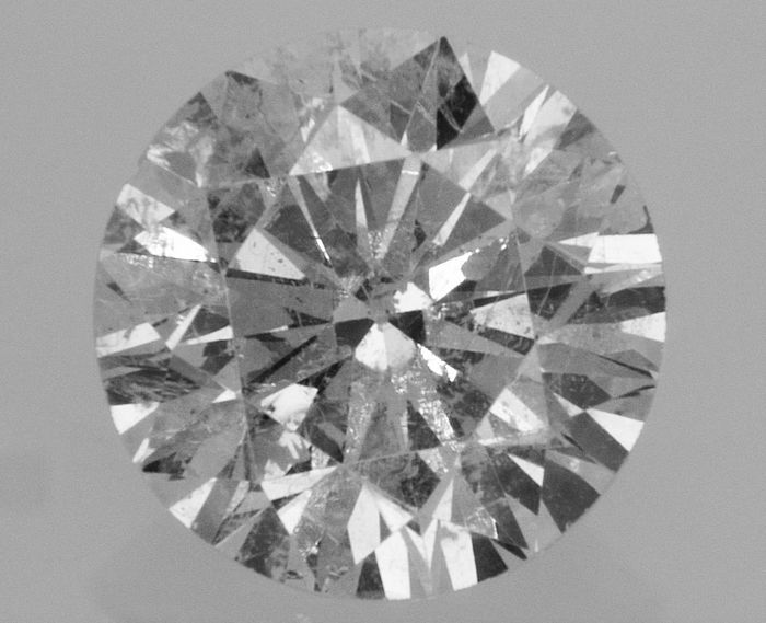 Round Brilliant Cut  - 1.31 carat  - F color  - SI1 clarity  - 3 x EX - Natural Diamond  - With AIG Big Certificate + Laser Inscription On Girdle
