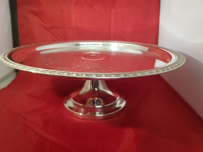 Silver plated Cake Stand on a silver plated pedestal