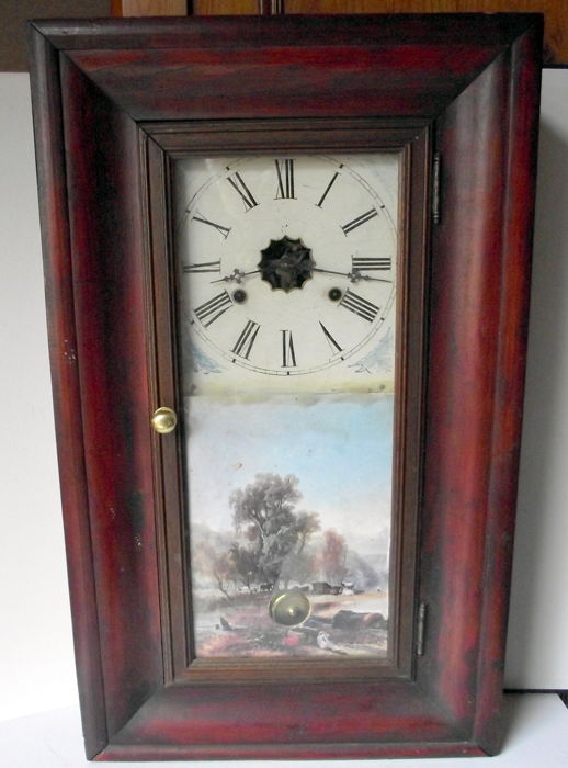 American clock with weight - Made by E. N. Welch Clock Company - circa 185