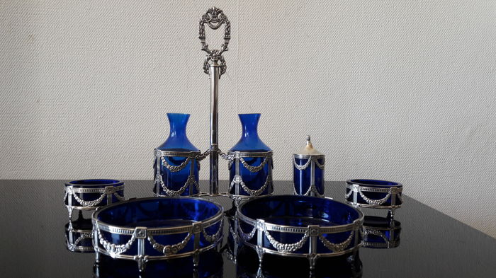 6 piece Silver Table set. Mema Sweden, 1st half 20th century