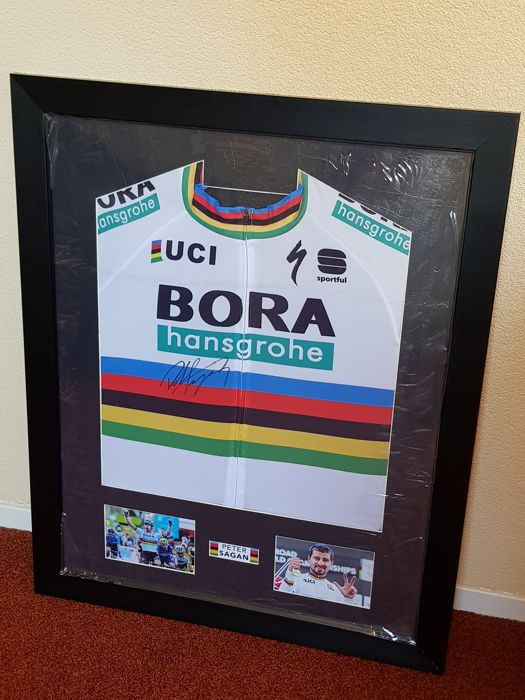 peter Sagan - 3x World Champion Cycling Elite - hand signed framed jersey + COA