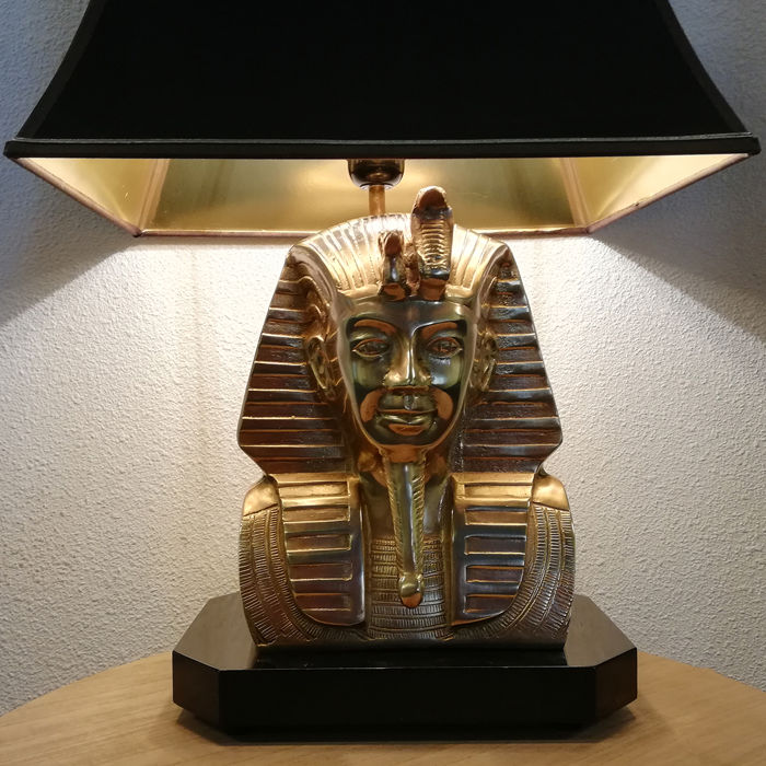 Unknown producer - Gold Brass Pharaoh Table Lamp