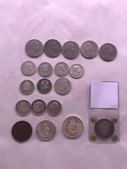 Italy - Lot of 19 coins of Kingdom and Vatican  (including silver)