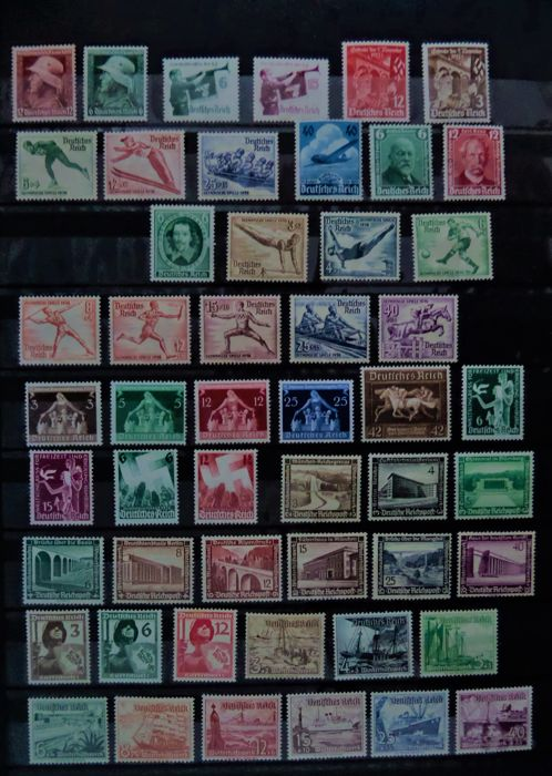 Deutsches Reich 1935/1937 - 14 complete series between Michel 569 - 659