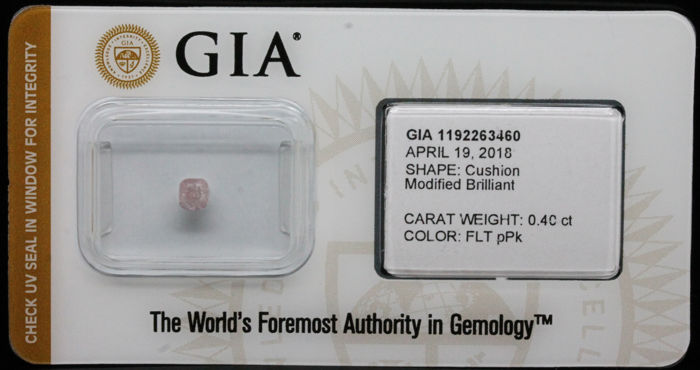 0.40 ct Certified Natural, Fancy Light Purplish Pink Diamond  - NO RESERVE