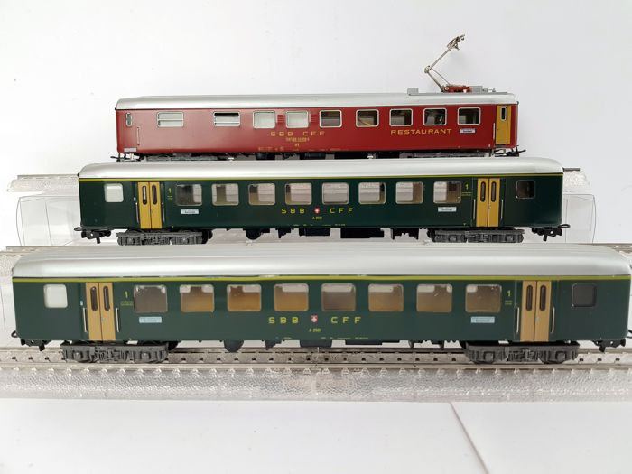 Märklin H0 - 4066/4068 - Passenger carriage - 3x - SBB-CFF