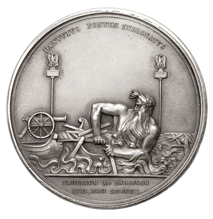 France - 'Napoleon First Empire - Battle of Essling 1809' medal by Brenet - silver
