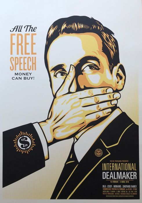 Shepard Fairey (OBEY) - Free Speech - 2018