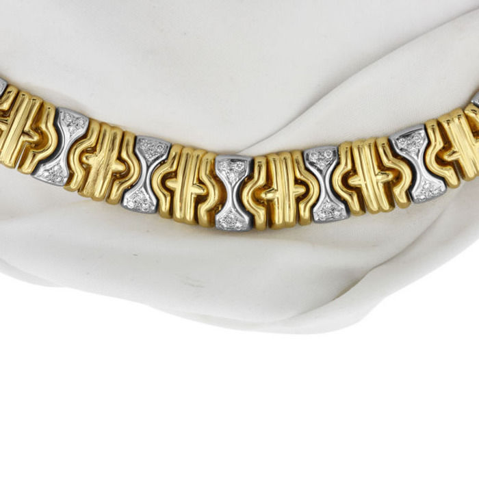 'Bulgari-style' 1.15ct Diamond Bracelet, as new.