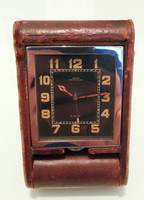 Jaeger travel clock - Ados 8 days Alarm clock, from the 1930s, model: Rodolfo Valentino - Unisex - 1901-1949