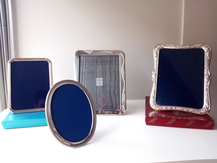 Majestic batch of photo frames in silver, Spain, second half of the 20th century Goldsmith