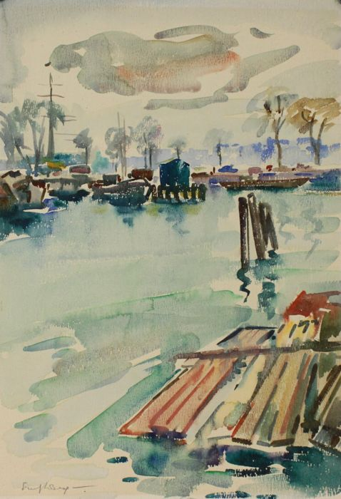 Freek van den Berg (1918-2000) - Amsterdamse haven
