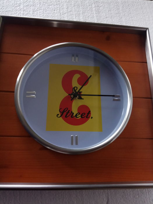 Advertising sign with clock, JB whisky