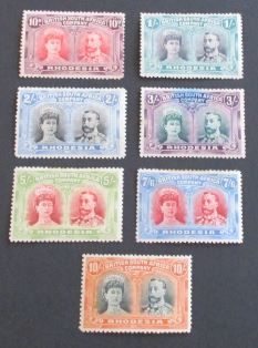 British South Africa Company/Rhodesia, 1909 - A small selection