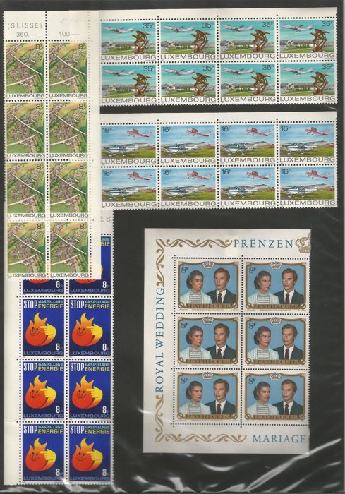 Luxembourg 1960/1981 - batch of postal stamps, FDC, air mail and blocks
