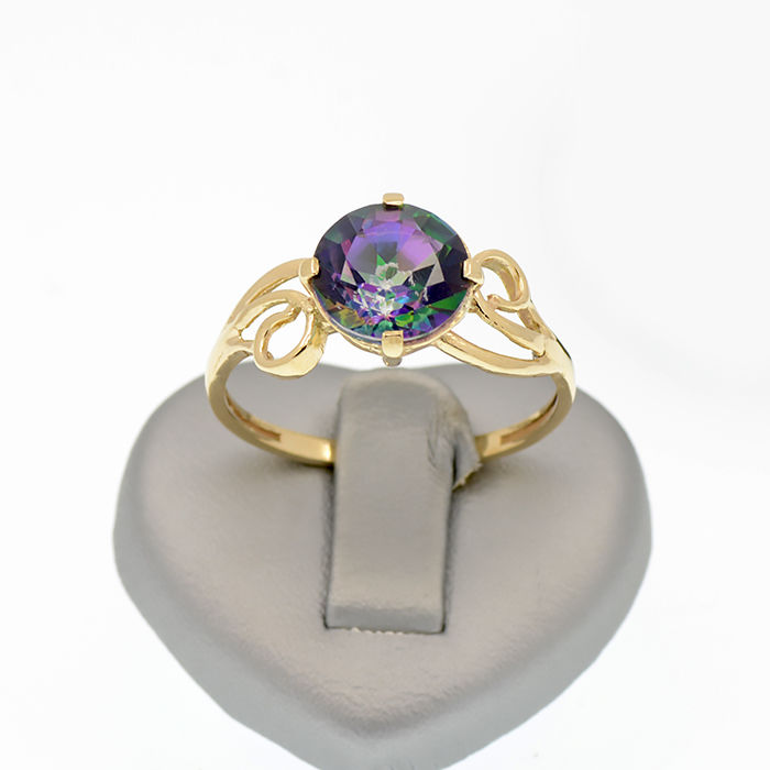 14k Yellow gold ring with a  blue topaz – Topaz weight, 3.26 ct. - No reserve price