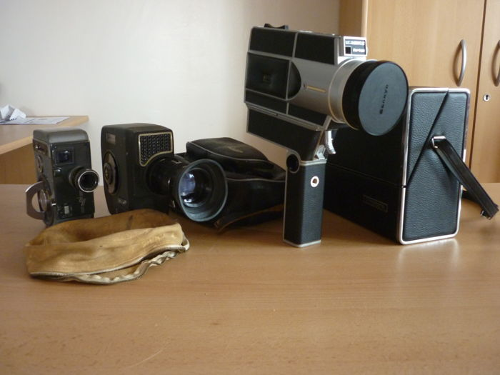 Lot 3 cameras - Yashica 8 - Lumicon Zoom 3E - Zankyo super CME440