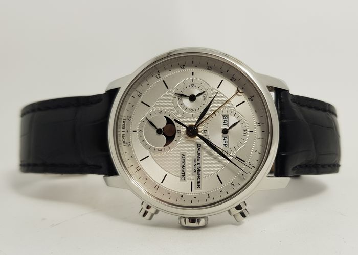 Baume & Mercier - Classima XL Executives Chronograph Moonphase - 65680 - Heren - 2000-2010
