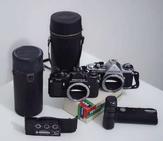 Lot of 2 Pentax me + lenses and accessories