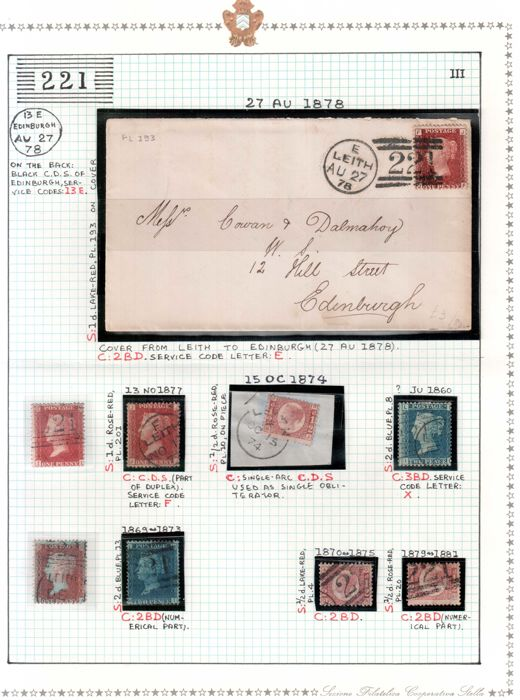 Great Britain 1860/1906 - Leith, a small collection.