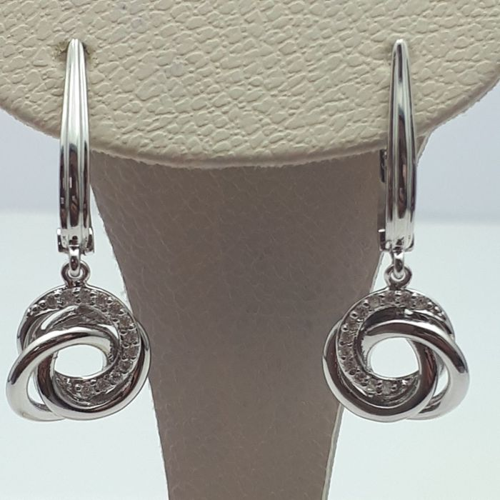 14 ct White Gold Earrings With Diamond