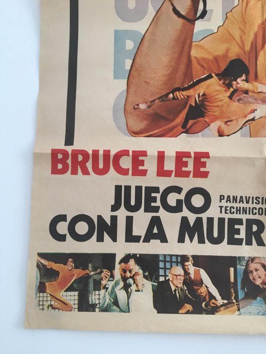 original movie poster bruce lee in game of death catawiki