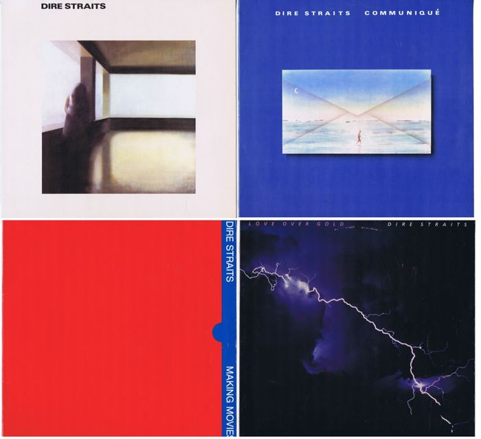 Dire Straits - collection of their first 4 LPs: 1. Dire Straits (1978), Communiqué (1979), Making Movies (1980), Love Over Gold (1982) 4 original Albums