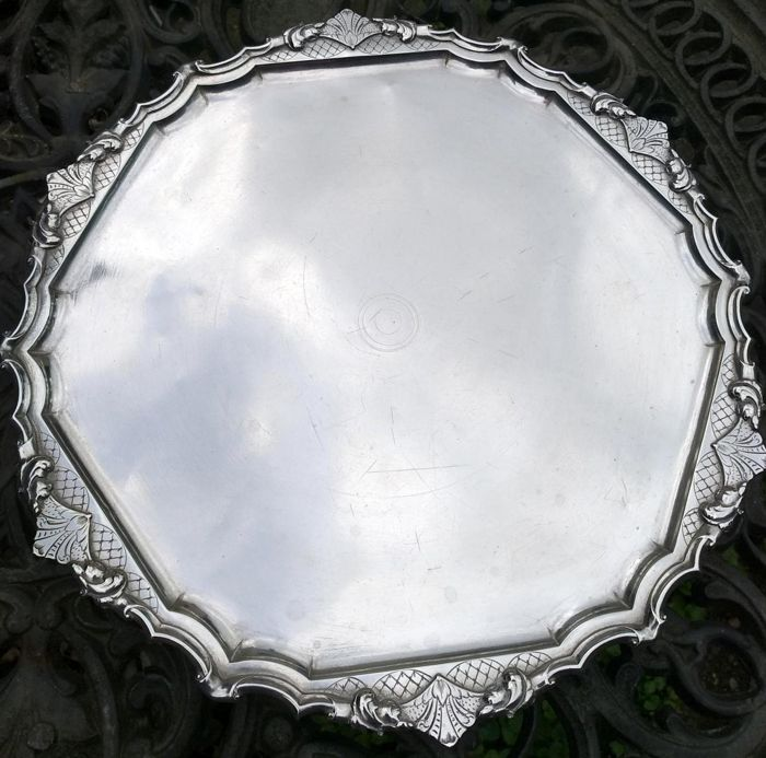 Sterling silver tray / salver, Amsterdam, The Netherlands, 18th century, 1738
