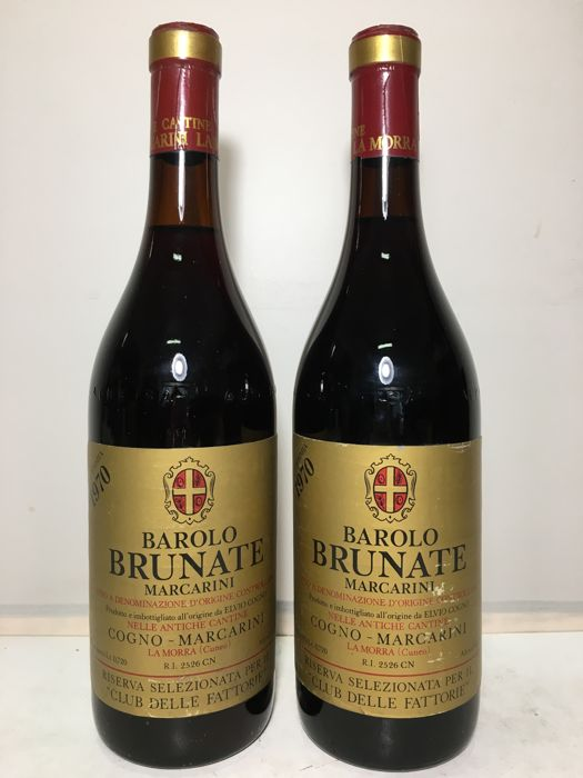 1970 Marcarini  Barolo Brunate Doc  - 2 bottles (72cl)